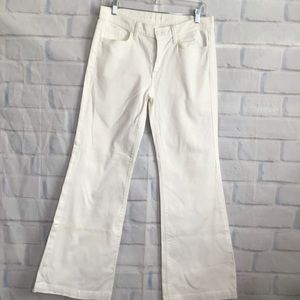 7 For All Mankind White Ginger Flare Jeans